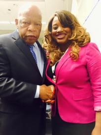 with Congressman John Lewis