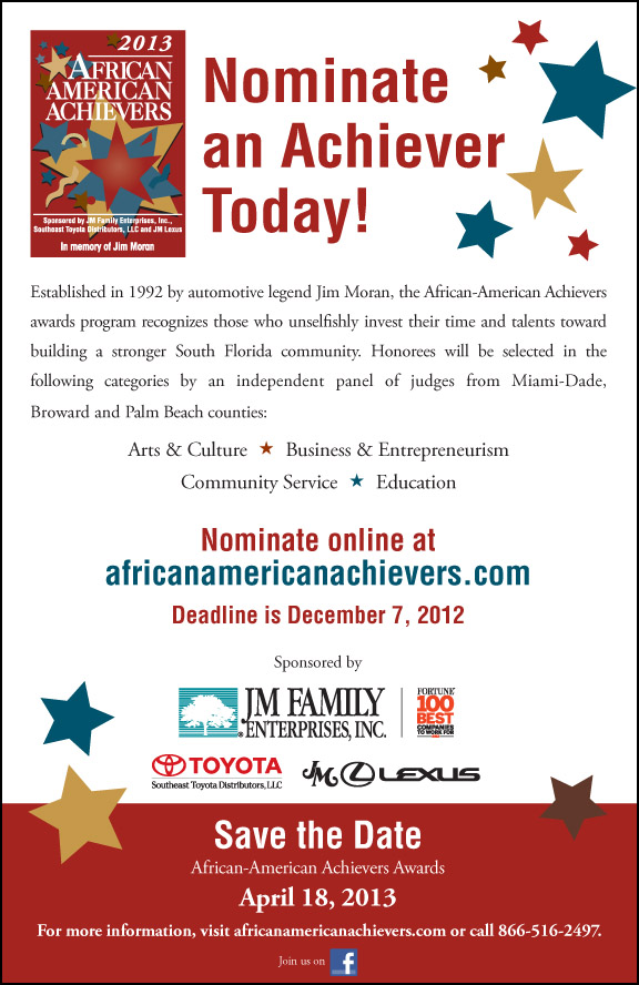 Nominate someone for the 21st Annual African-American Achievers Awards