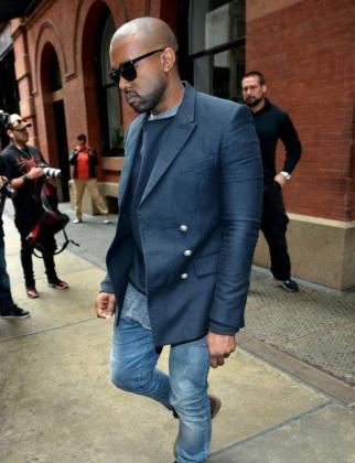 Kanye-West-Balmain-navy-double-breasted-jacket-Persol-shades-3
