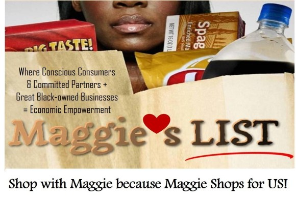 Maggie Anderson's experiment and sacrifice living off Black businesses for 1 year proved that 1 million new jobs can be created if such businesses received a small increase in engagement from everyday consumers and within Corporate America's supply chains. MaggiesList.com was created to get those jobs, and celebrate and enhance business diversity in America. (PRNewsFoto/Maggie Anderson and iSwop Netwo)